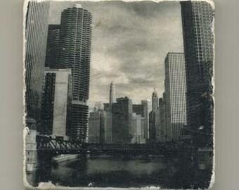 Chicago Riverview in Infrared - Original Coaster