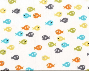 Guppies for Lunch Sea 100% Cotton from Michael Miller Fabric's Mer-Mates Collection