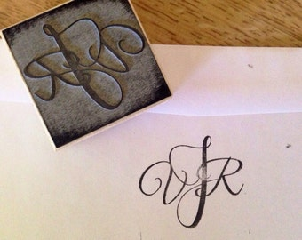 Custom Monogram Stamp, Wedding Monogram Stamp, Address Stamp