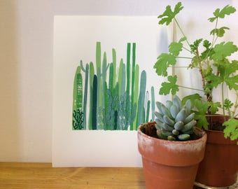 Cactus screen print