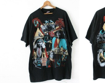 "XLARGE Vintage 1990s This Is Indian Land ""Trail of Tears"" (Front and Back) T-Shirt"