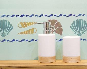 CraftStar Sea Shell Border Stencil - Reusable Mylar Shell Border Stencil