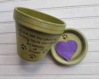 Pet Loss Gift - Large Planter - Animal Sympathy Gift - Dog Memorial Gift - Painted Flower Pot - Pet Memorial Planter - Cat Memorial Gift