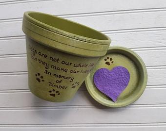 Pet Loss Gift - Large Planter - Animal Sympathy Gift - Dog Memorial Gift - Painted Flower Pot - Pet Memorial Planter - Cat Memorial Gift