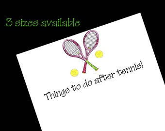 Personalized Tennis Notepad ~ Tennis Gift ~ 3 Sizes