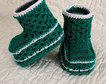 Knitting Pattern (pdf file) Honecomb Baby Booties