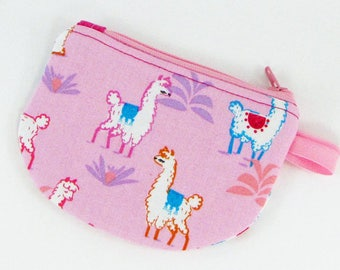 Llamas, credit card case, business card holder, coin pouch, change purse, womens change purse, credit card wallet,  minimalist wallet