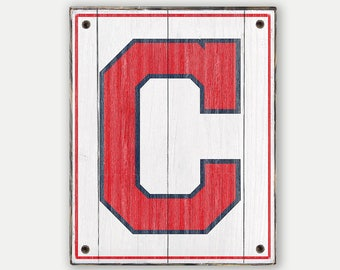 Cleveland Indians sign - Print applied to wood - Indians fan gift - Man cave Boys room Sports Bar decor Fathers Day gift for Dad
