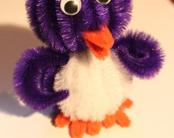 Chenille Penguin - Royal Purple