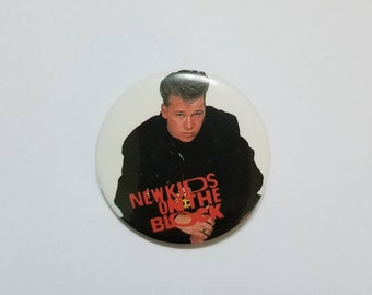 Vintage 80s 90s New Kids On The Block NKOTB Donnie Wahlberg 1.5 Inch Pinback Button