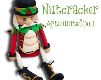 Polymer Clay NUTCRACKER Articulated Doll Tutorial by Katie Oskin of KatersAcres