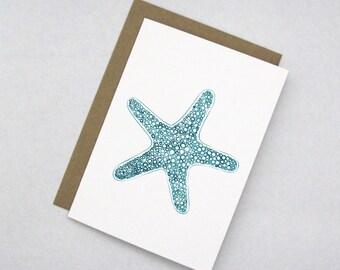 Sea Star Note Card
