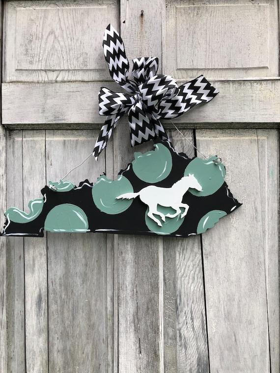 Kentucky door hanger, State, door hanger, Kentucky, black and white state sign, home sign, door hanger, state pride sign