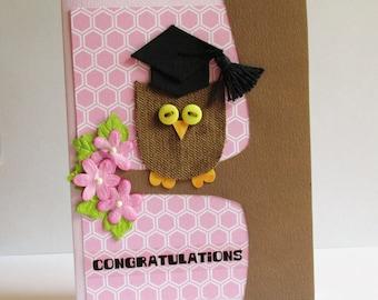 Owl Graduation Card, Graduation Card, Congratulations Card, Congratulations Graduate Card, Card, Greeting Card, Owl Card, Class of 2018,rts
