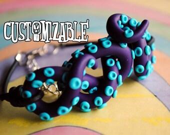 Octopus Tentacle Bracelet Custom Colors Unique Handmade Bracelet