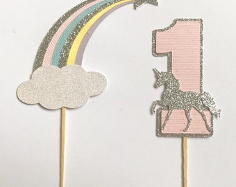 Unicorns & Stars Cupcake Toppers 12 count