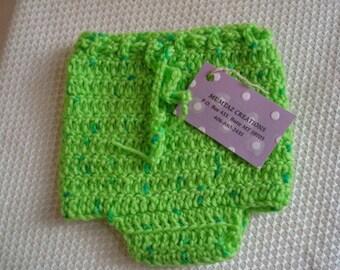 FREE SHIPPING - Newborn Wool Soakers - Original Shortie - Lime Green 84