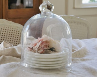 Large Glass Dome Cloche French Shabby Chic