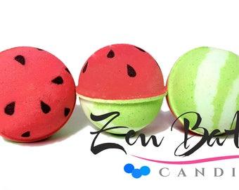 Watermelon Bath Bomb   Bath Bombs   Bath Fizz   Vegan   Handmade