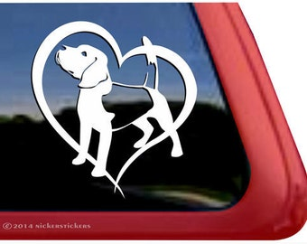 Beagle Heart | DC311HRT | High Quality Adhesive Vinyl Window Decal Sticker
