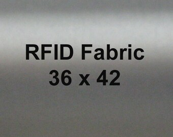 RFID Blocking Fabric, EMI Shielding  for Wallets Lining, Purse lining, Pocket Lining 36 by 42 in