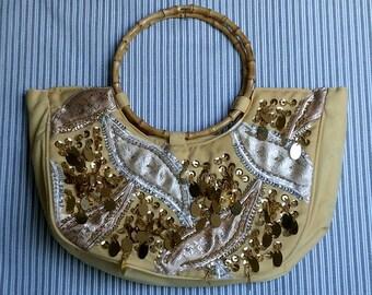 "Yellow ""Glitter"" handbag"