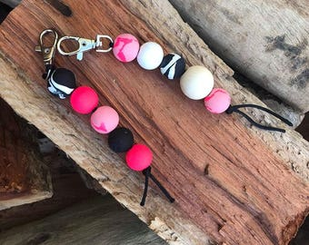 Clay Bead Key Ring