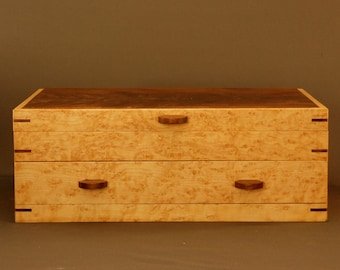 BIRD'S-EYE MAPLE. Jewelry Box - Wood Jewelry Box - Wood Jewelry Organizer