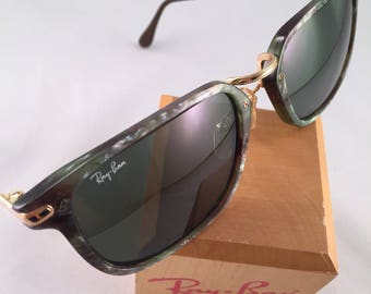 VIntage Bausch and Lomb Ray Ban Traditionals Marble Silver Gray Sunglasses