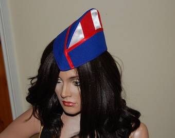 Pinup Military Hat ,captain america hat ,Garrison Hat,side cap.
