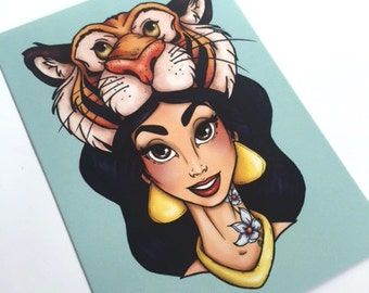 Hunter Jasmine Aladdin Postcard