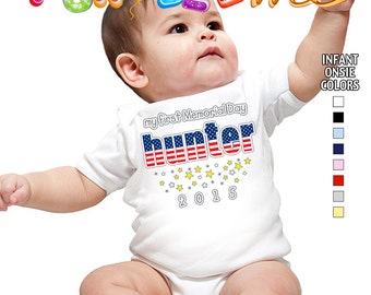 My First Memorial Day - Bodysuit - Boys - Personalized with Name and Year