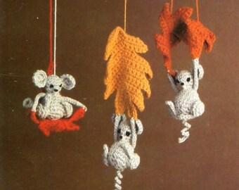 Three Mouseketeers Pattern, Fall Leaves