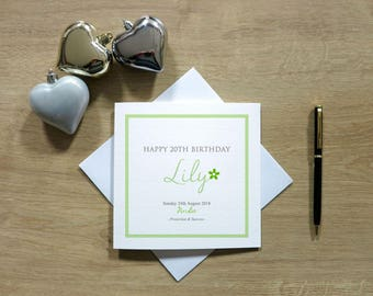 Personalised August Birthday Card - Peridot Birthday Card - Birthstone Card - Card For Her - Cards For Women - Cards For Wife