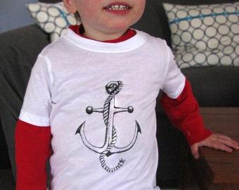 Kids Anchor Shirt, Sailor Clothing, Cute Toddler Clothes, Unique Kids Clothes, Hipster Kids Clothes, Rockabilly Kids