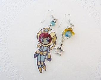 Earrings Cosmic Girl - polyshrink earrings
