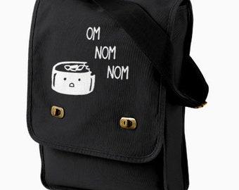 Sushi bag - kawaii sushi crossbody bag - kawaii tote - Japanese foodie gift - sushi lover gift - hipster book tote - cute shopping bag