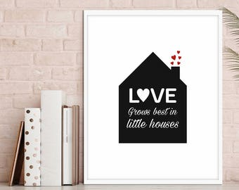 love print, love decor, house decor, house print, nursery decor, living room, baby room, modernist art, modernist decor, 5 SIZES INCLUDED