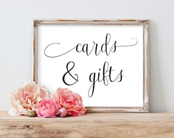 Cards and Gifts Wedding Sign, Wedding Gifts Sign, Cards Sign Wedding, Cards and Gifts Sign, Cards and Gifts Printable, Wedding Printable