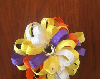 Spring Time Flower Bow