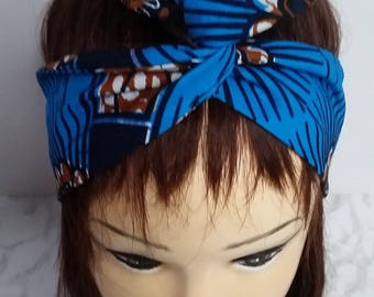 Headband-Headband - headband-Haarband - Tulband Hoofband Turban modular-town hoofdband - vintage retro chic wax