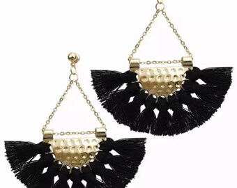 Simple Tassel Dangle Earrings