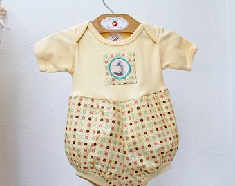 Ostrich Baby Romper New Baby Gift Baby Bubble Romper Yellow Baby Boy Outfit Girl Boy Unisex Baby Clothes Snaps Size 3 6 9 12 18 24 months