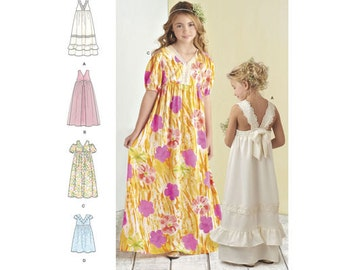 Simplicity Pattern 8352 Child's and Girls' Dress with Bodice and Skirt Variations