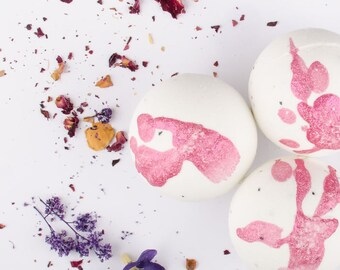Claire de Lune Bath Bomb - One all natural Bath Fizzie - Girlfriend Gift - Valentines Day Gift