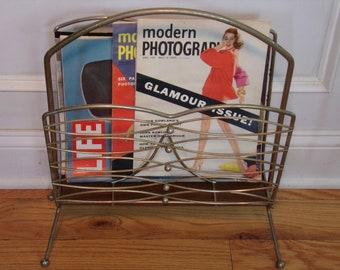 Vintage 1950's/1960's  Magazine Rack/Record Holder