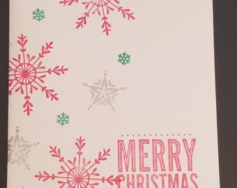Christmas Card, Christmas Wishes, Christmas Card Greetings, Holiday Cards, Homemade Christmas Card, Snowflakes