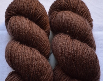 Burnt Brown MERINO hand-dyed with natural colors