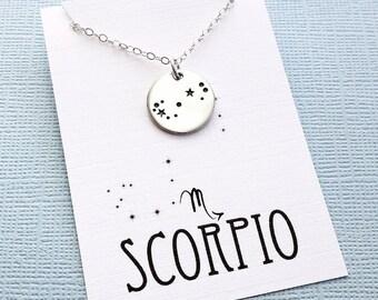 Scorpio Jewelry | Scorpio Necklace, Zodiac Jewelry, Zodiac Necklace, Constellation Necklace, Astrology Jewelry, Zodiac Sign Necklace, Zodiac