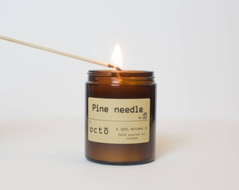 Pure Pine Needle Candle, Scented With Essential Oils. Natural Soy Wax  Candle. (naturel bougie d'aiguille de pin)